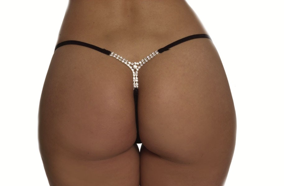 Y-Back Rhinestone G-string Back